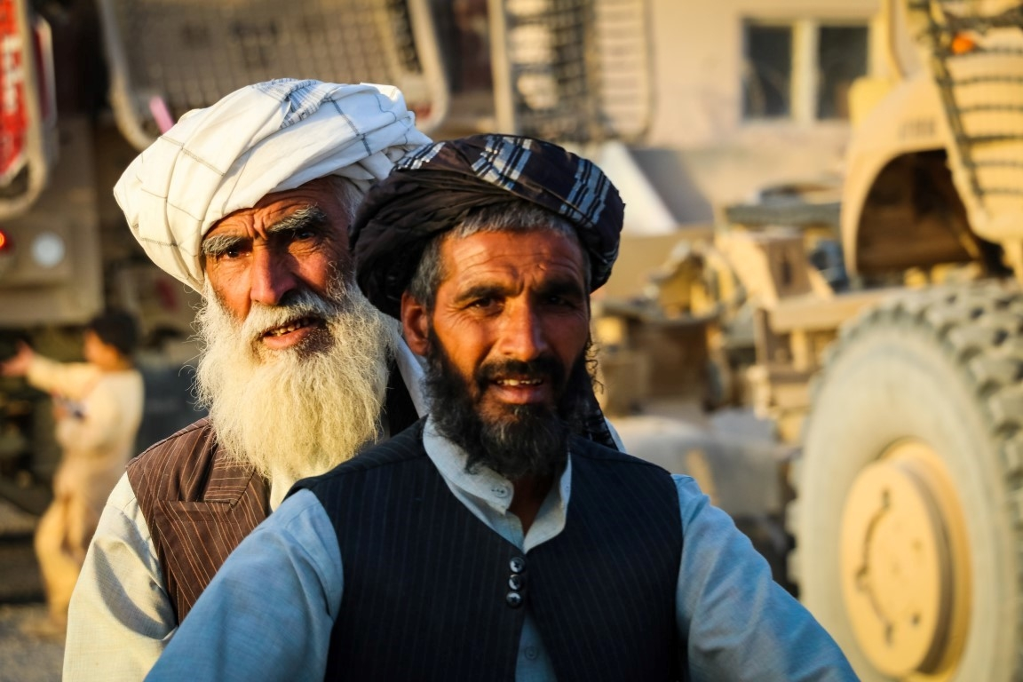 An-elder-afghan-on-his-way