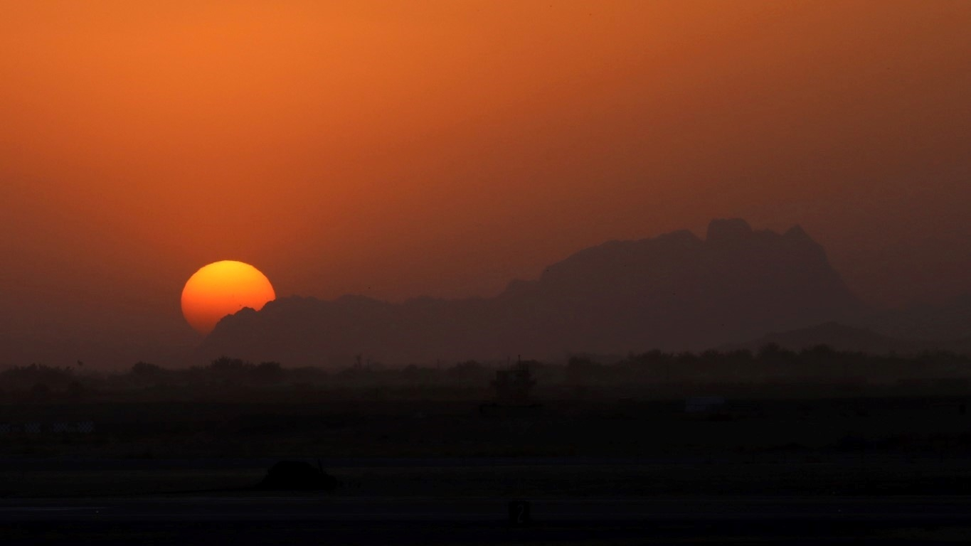 sunset at Kandahar
